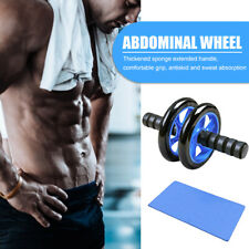 Abdominal Exercise AB Roller Body Fitness Strength Training Wheel with Yoga Mat