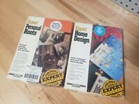 Expert Personal Roots & Expert Home Design by Expert Software for Tandy/IBM  A++
