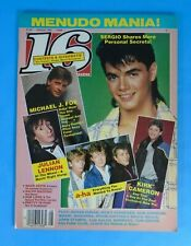 1986 16 Magazine George Michael Poster Michael J Fox Menudo Ricky Martin