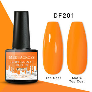 MEET ACROSS Nail Art Gel Color Polish Soak-off UV/LED Varnish Manicure DF201