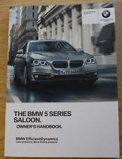 GENUINE BMW 5 SERIES F10 SALOON HANDBOOK OWNERS MANUAL 2013-2017 BOOK