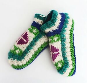 Hand made Pure Woolen Socks men women warm fleeced yoga Sherpa slipper organic