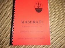 Manual MASERATI    ZF Gearbox S5-325  Quattroporte Mexico Ghibli Indy
