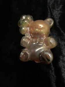 BOYD GLASS # 9 AUTUMN CARNIVAL PATRICK BALLOON BEAR FIGURINE B IN DIAMOND