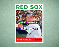 Tony Horton Boston Red Sox 1964 Style Custom Art Card