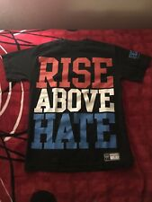 "WWE John Cena ""Rise Above Hate"" T-Shirt Black Men's Small"