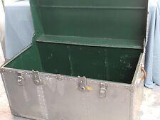 Antique WWII Military Japanese Aluminum Footlocker Trunk AIKOKU Tokyo