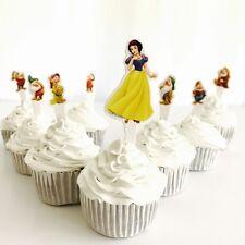 8 x Snow White CUPCAKE TOPPER Food Pick Seven Dwarfs. Party supplies Lolly Bags