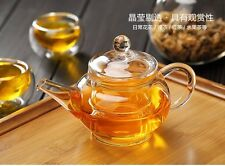 Heat Resistan Glass Teapot With Infuser Coffee Tea Leaf Herbal Pot 250ml BEST