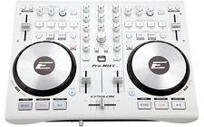 EPSILON PRO-MIX2 ULTRA-COMPACT 2 DECK PROFESSIONAL CONTROLLER VIRTUAL DJ WHITE