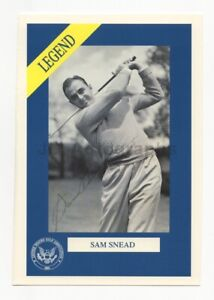 "Sam Snead - PGA Champion Golfer - Signed 5x7 ""Legend"" Photograph"
