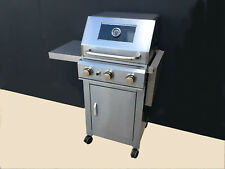 BBQs-R-US Grillmaster 3 burner stainless steel compact BBQ.Comes 100% assembled!