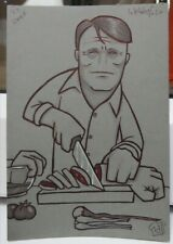 HappyToast, Chef, Hannibal, Original artwork, A5, Signed, Inktober