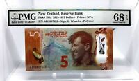 NEW ZEALAND 5 DOLLARS 2015 RESERVE BANK  PICK 191 a LUCKY MONEY VALUE $680