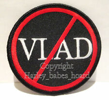 Biker Iron Or Sew On Embroidered Cloth Patch ~ QLD Anti VLAD Bikie Law Patch ~
