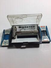 Vintage Gillette G 1 Adjustable Safety Razor FAT BOY Super Blue Gillette Fat Boy