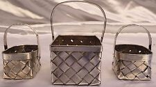"MAGNIFICENT 3 PIECE CARTIER FRENCH HAND MADE STERLING SILVER BASKETS ""MUST SEE"""