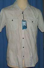 Next Men's Slim Striped Casual Shirts & Tops