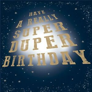 Super Duper Birthday Greeting Card Sold To Support Royal Trinity Hospice Charity