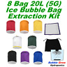8 X 5 GALLON (20L) BUBBLE BAGS FILTRATION HERBAL HASH ICE EXTRACTION KIT SET