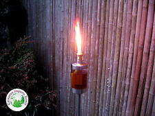 Torch  Burner  Stainless Steel & Acrylic Lantern  SET 4   Garden