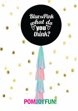 """Giant 36"""" Gender Reveal Balloon With Tassels!"""