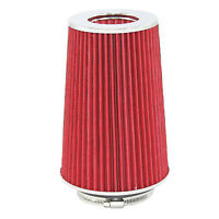 "Red Univeral Cone Intake Air Filter 10.6"" L x 6"" W Inlet 3"" 3.5"" Or 4"" Large"
