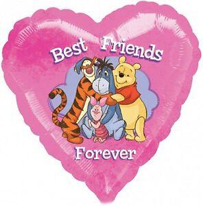 BEST FRIENDS FOREVER HEART SHAPE WINNIE THE POOH 18 INCH HELIUM FOIL BALLOON
