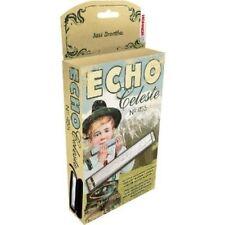 Hohner 455 Echo Celeste Tremolo Tuned Harmonica Key of A, Includes Case, 455BX-A