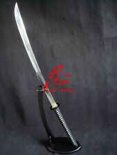 battle ready 117cm jp naginata katana sword musashi tsuba full tang black sharp
