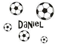 Wall Stickers custom baby name Soccer ball vinyl decal decor Nursery kids