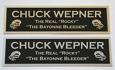 Chuck Wepner nameplate for signed boxing gloves trunks photo or case
