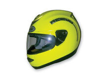 Reevu MSX1 Hi Viz Rear View Full Face Helmet, DOT ECE, Yellow, Size Small
