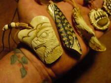 BALD EAGLE carved deer antler necklace scout scouts hawks eagles carvings BSA