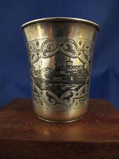 1861 Russian silver niello kiddush beaker cup
