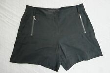 KENNETH COLE black mid rise dress shorts size 6 EUC