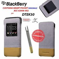 CUSTODIA COVER VIEW CASE ORIGINALE BLACKBERRY ACC-63006-002 GRIGIO per DTEK50
