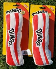 Dingo Bacon Dog Toys Squeaks And Crinkles Made Of High Quality Plush (Set of 2)