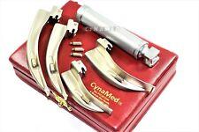 German New Laryngoscope Mac Set Of 4 Blade And One Handle Emt Anastasia 3 Bulb
