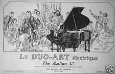 PUBLICITÉ 1927 LE DUO-ART ÉLECTRIQUE THE AEOLIAN PIANO - EDWARD POUCHER