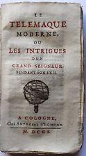1701 Télémaque moderne Satire de la fin du règne de Louis XIV Rare Rouen EO