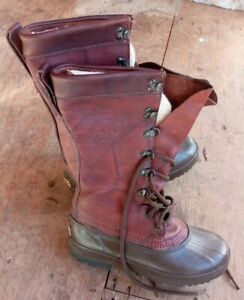 Vintage Authentic Sorel Leather Boots With Felt Liner Men's Size 6 - Brand New