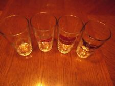 Set Of 4 Vintage Budweiser Glasses Bar Tavern Mancave Barware Man Cave Decor