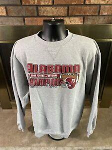 Alabama Crimson Tide Football NCAA CREWNECK Sweatshirt Mens XL National Champion