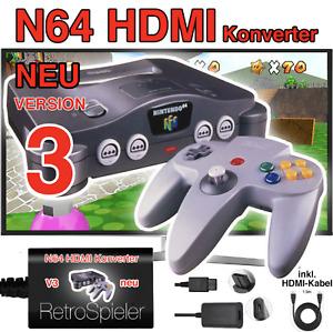 N64 HDMI Konverter V3 Full HD Adapter Nintendo 64 Controller Verlängerung Kabel