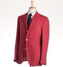 NWT $1225 BOGLIOLI Pomegranate Pink Linen 'K Jacket' Sport Coat Slim 46 R (Eu56)