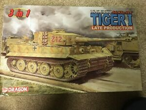 dragon brand soviet Tiger I late production tank model early   1/35 scale
