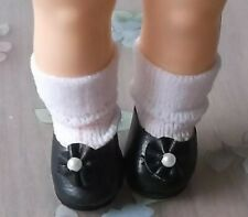 """Tiny Doll Shoes Black 7/8"""" For Small Dolls, Ginny, Gnomes, Trolls U.S. Seller"""