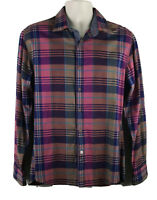 ROBERT GRAHAM Men's Plaid Multi Color Shirt Sz MEDIUM Button-Down Long Sleeve