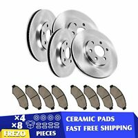 2006 2007 2008-2011 Ford Fusion Front Rear Ceramic Brake Pads and Rotor Disc